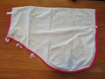 New Cotton  Rip Stop Neck Rug Cob / Small Horse  White With Red Binding  New
