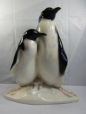 Vintage 1986  -  LLadro Hispania Daisa  -  Large Pair of Penguins  -  Figurine