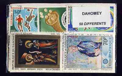 Dahomey 50 stamps different