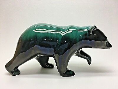 "Large Walking Bear Blue Mountain Pottery Ontario Canada 11"" x 5-1/4"" tall"