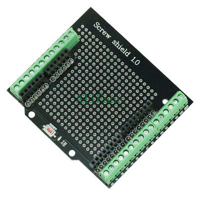 Proto Screw Shield For Arduino Open Source Reset Button D13 LED Compatible Board