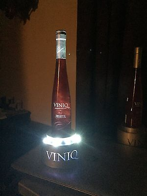 Viniq   Vodka  Glass  Display Bottle -Lights Up & Liquid Swirls