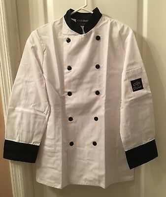 Professional Chef Jacket Coat NEW Sealed Small Long Sleeve Chefs Choice 5370 BL