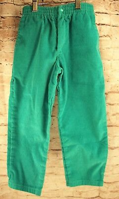 Vintage Retro Crayon Crowd  Green Corduroy Pants Kids Children Size 5 Elastic