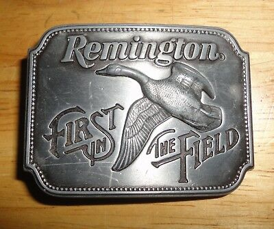 Vintage 1980 REMINGTON FIRST IN THE FIELD - CANADA GOOSE Belt Buckle