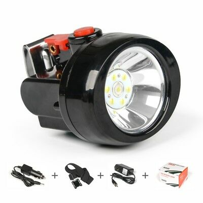 IWISS LED Light Head Lamp for Miner Camping Hunting Fishing with CAR Charger
