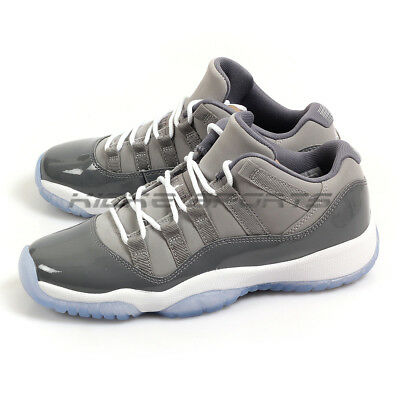 71c6d3ef064a05 Nike Air Jordan 11 XI Retro Low BG Medium Grey White-Gunsmoke 528896-