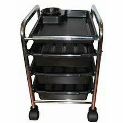 Nail Salon Pedicure Trolley Black Mobile