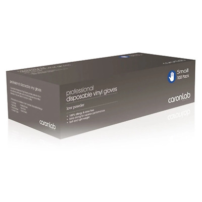 Caron Disposable Vinyl Gloves Low Powder Small 100 Pack High Quality Soft