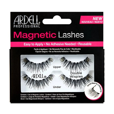 Ardell Magnetic Strip Lashes - Double Wispies Fake Eyelashes - No adhesive neede