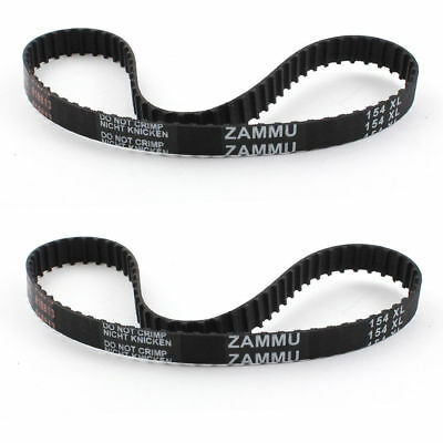 2Pcs Timing Belt Dishwasher Speed Control Drive Rubber 77 Teeth 10mm Wide