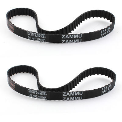H● 2Pcs Timing Belt Dishwasher Speed Control Drive Rubber 77 Teeth 10mm Wide