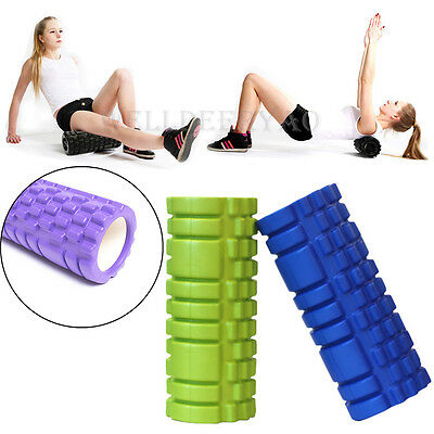 30x10CM Foam Roller Gym Yoga Exercise Trigger Point Therapy Deep Tissue Massage
