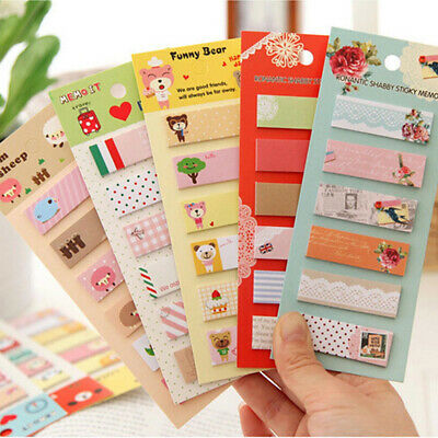 Lovely cartoon note times Sticker Paste Marker Memo Flag Index Tab Sticky Notes