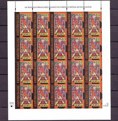 Poland Polen 2001 sheet 100th anniversary of polish children's strike in Wrześni