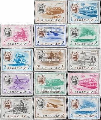 Ajman 127A-140A (complete issue) unmounted mint / never hinged 1967 clear brands