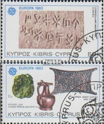 Cyprus 582-583 (complete issue) used 1983 great Works