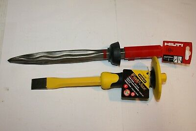Hilti TE-SP SM 36 14-Inch Self-Sharpening Pointed Chisel & STANLEY COLD CHISEL