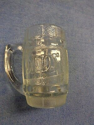 """Glass mug from """"DAD""""S root beer with chip on bottom (LE-30)"""