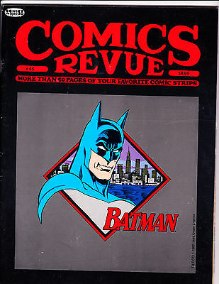 "Comics Revue No 45-1990-Strip Reprints- ""Batman Cover!  """