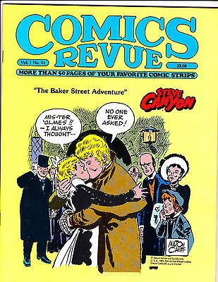 "Comics Revue Vol 1 No 21-1987-Strip Reprints- ""Steve Canyon Cover!  """