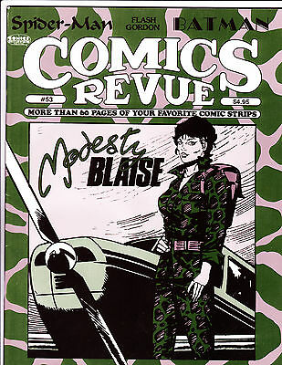 "Comics Revue No 53-1990-Strip Reprints- ""Modesty Blaise Camo Cover!  """