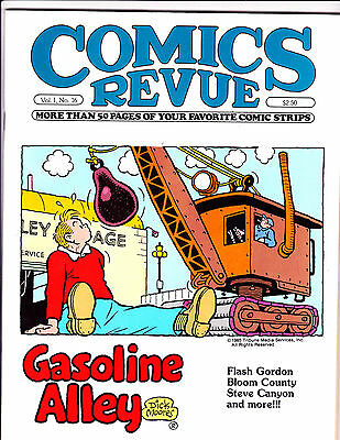 "Comics Revue Vol 1 No 16-1985-Strip Reprints- ""Gasoline Alley Cover!  """