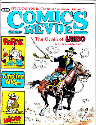 "Comics Revue Vol 1 No 31-1989-Strip Reprints- ""Latigo Origin Cover!  """