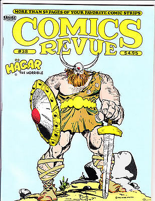 "Comics Revue Vol 1 No 38-1989-Strip Reprints- ""Hagar The Horrible Cover!  """