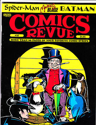 "Comics Revue No 52-1990-Strip Reprints- ""Penguin Line-Up Cover!  """