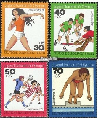 Berlin (West) 517-520 (complete issue) FDC 1976 Youth brands