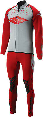 Slippery S17 Breaker Wetsuit & Jacket Red/Silver Adult All Sizes