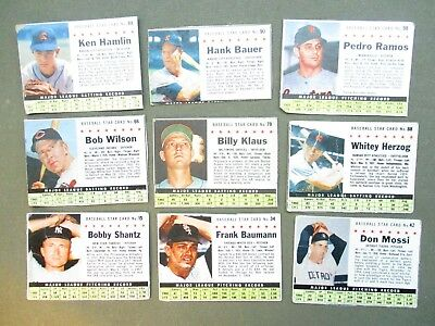 1961 POST Baseball Card Lot 24 diff. vintage old