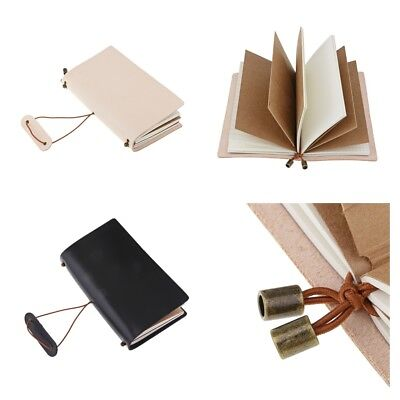 Refillable Leather Journal Travel Notepad Notebook Diary Book Writing Poetry