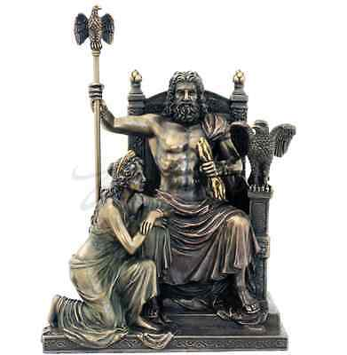 Zeus And Hera At The Throne Greek Mythology Statue Sculpture Figurine