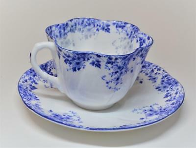 Vintage SHELLEY Bone China England DAINTY BLUE Pattern #051-28 Set Cup & Saucer