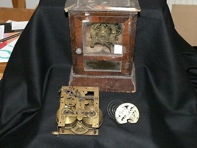 Three old clock movements spares or repairs