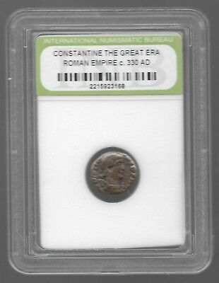 Rare Old Ancient Antique CONSTANTINE GREAT Roman Empire Invest War Coin AB107