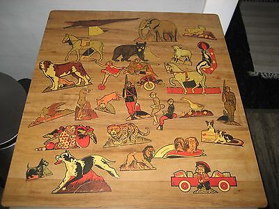 1930's Post Cereal Cutouts-Soldiers,Animals Circus,Dogs-28 Pieces