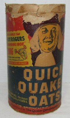 1950's Quaker Oats Box with Roy Rogers Branding Iron Ring Offer