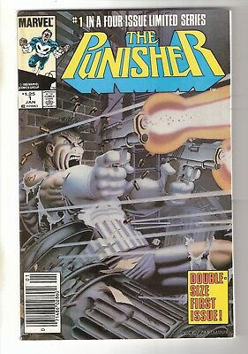 The Punisher #1 2 3 4 5 (Jan 1986, Marvel)  Limited Series Comics Newsstand