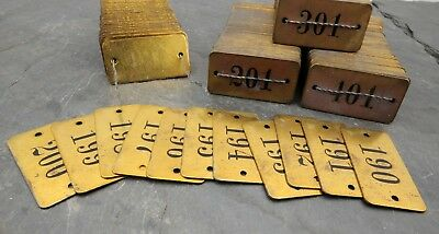 SET OF 400 1940\'s NOS Hotel/Apartment Room Door Numbers/Tags ...