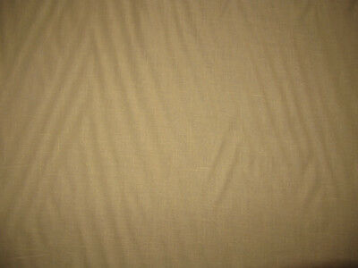 1 Yard Suntan Yellow 100% Linen Fabric 6.5-7oz Medium/Heavy Weight
