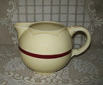 VINTAGE CREAM NEWPORT POTTERY 'CLARICE CLIFF' 12cm MILK JUG (**with faults**)