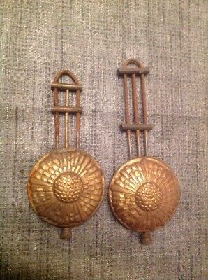 Antique Brass Clock Pendulums 110 120mm Long 48mm Diameter 28 45grams