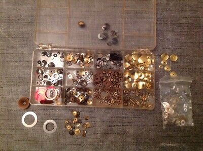 Clockmakers Dial Washers Nuts Split Washers Selection From Spare Parts Chest