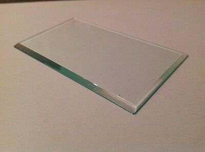 Bevelled Carriage Clock Glass Bevelled Rectangle  101mm 61mm