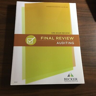 Brand new 2018 becker cpa exam review audit aud v32 latest 2018 becker cpa exam final review auditing aud textbook v31 after june30 2017 fandeluxe Choice Image