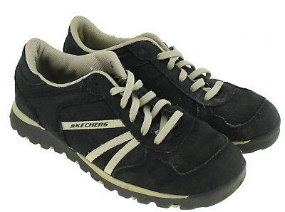 42d81a515b78d Skechers Grand Jams Womens Lace Up Black Suede Fashion Sneakers Sz 7.5  #46392