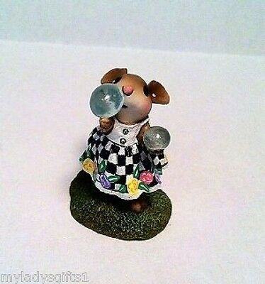 Wee Forest Folk Special Color Checkered Poppies Bubbles Attendee WFF